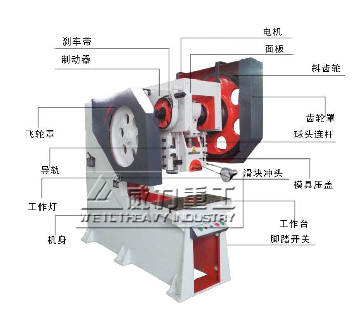 冲床离合器结构图200吨
